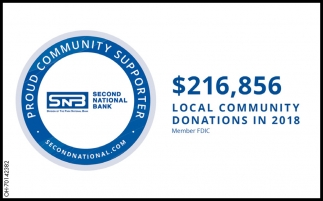 $216,856 Local Community Doantions in 2018