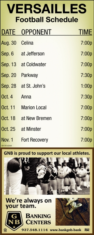 Versailles - Football Schedule