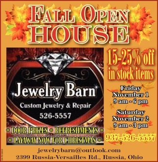 Fall Open House - November 1