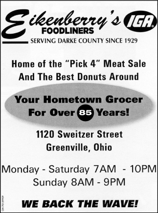 You hometown Grocer For Over 85 Years!