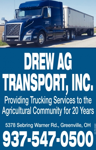 Providing Trucking Service to the Agricultural Community for 20 Years