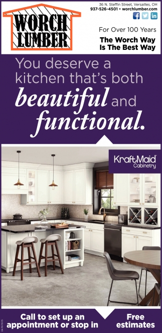 You deserve a kitchen that's both beautiful and functional