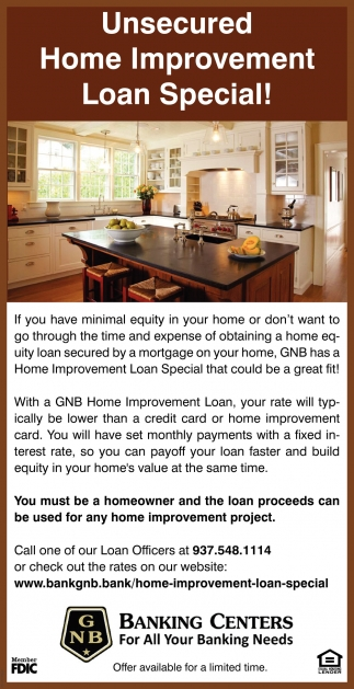 Home Improvement Loan Special