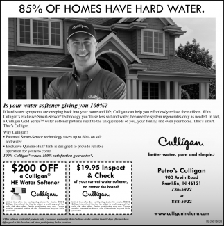 85% Of Homes Have Hard Water