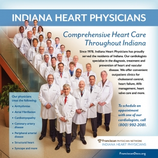 Comprehensive Heart Care Troughout Indiana