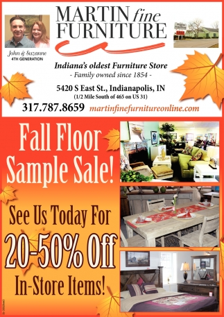 Fall Floor Sample Sale!