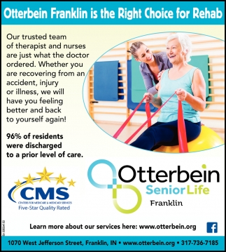 Otterbein Franklin Is The Right Choice For Rehab