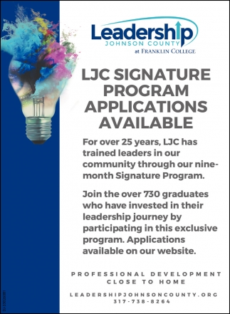LJC Signature Program Applications Available