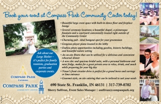 Book Your Events At Compass Park Community Center Today!