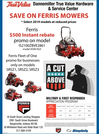 Save On Ferris Mowers