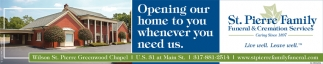 Opening Our Home To You Whenever You Need Us.
