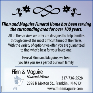 Has Been Serving The Surrounding Area For Over 100 Years.