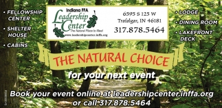 The Natural Choice For Your Next Event