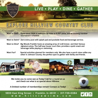 Explore Hillview Country Club