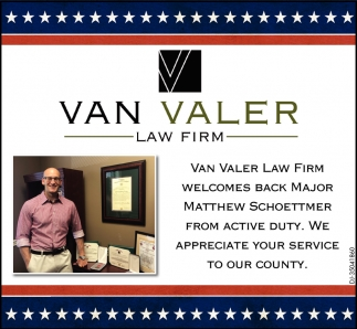 Welcomes Back Major Matthew Schoettmer