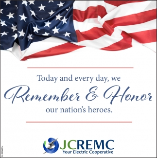 Today And Every Day, We Remember & Honor Our Nation's Heroes.