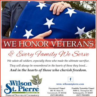 We Honor Veterans & Every Family We Serve