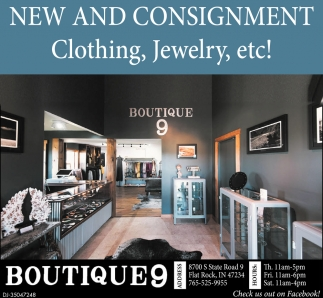 New And Consignment Clothing, Jewelry, Etc!