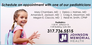 Schedule An Appointment With One Of Our Pediatricians