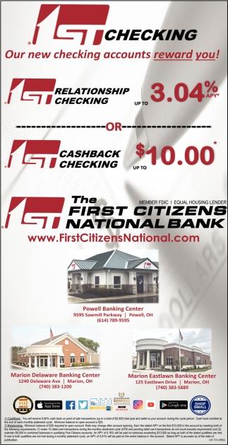 first citizens national bank rewards