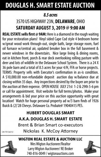 Douglas H. Smart Estate Auction
