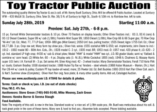 Toy Tractor Public Auction