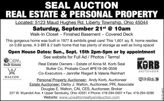 Seal Auction - Real Estate & Personal Property