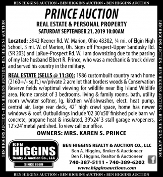 Prince Auction ~ September 21