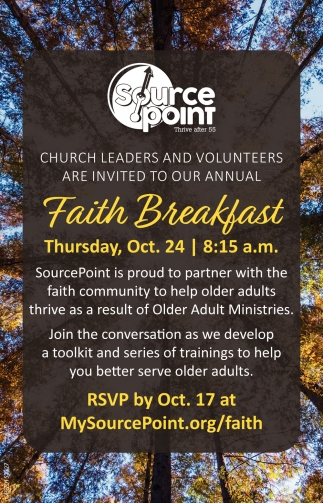 Faith Breakfast - Oct. 24