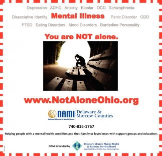 Mental Illness. You are Not alone