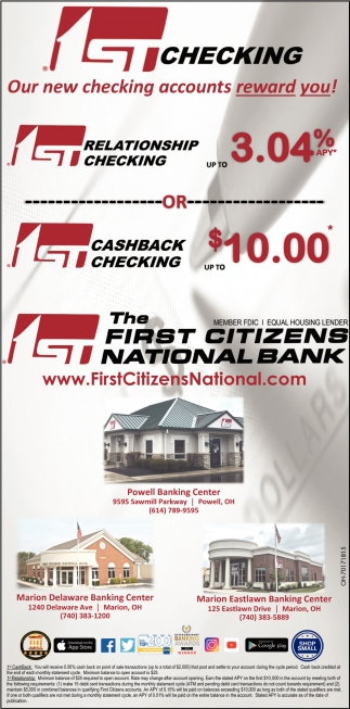 Our new checking accounts reward you!