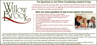 Ten qustions to Ask When Considering Assisted Living
