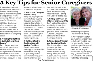 5 Key Tips for Senior Caregivers