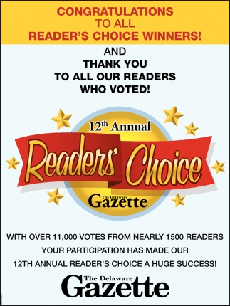 Congratulations to All Reader's Choice Winners