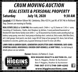 Crum Moving Auction