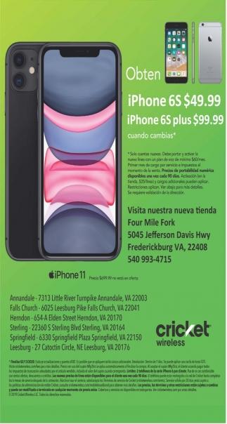 Obten Iphone 6s 49 99 Cricket Wireless Roanoke Va