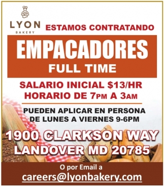 Empacadores Full Time