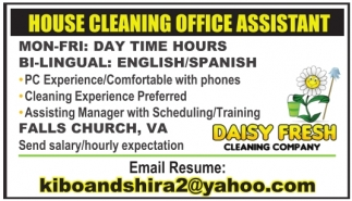 House Cleaning Office Assistant