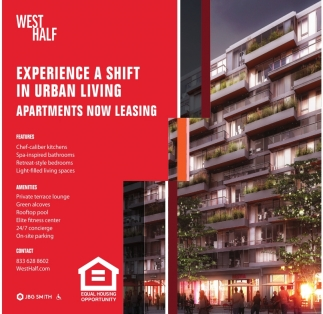 Experience a Shift in Urban Living