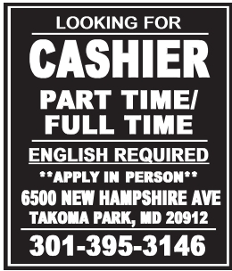 Cashier Part Time