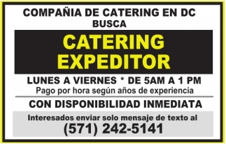 Catering Expeditor