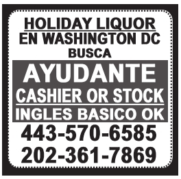 Ayudante Cashier or Stock