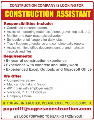 Construction Assistant