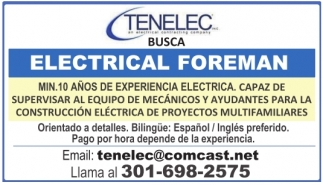 Electrical Foreman