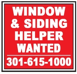 Window & Siding Helper Wanted