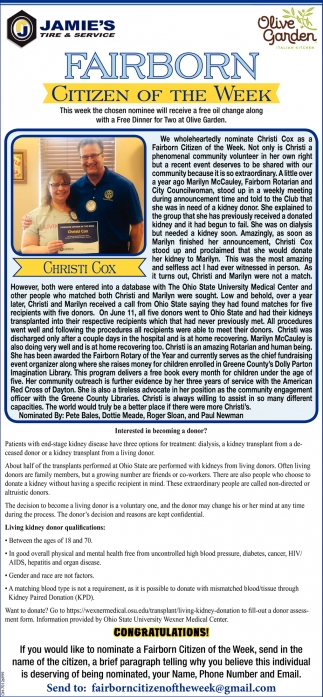 Christi Cox - Citizen of the Week