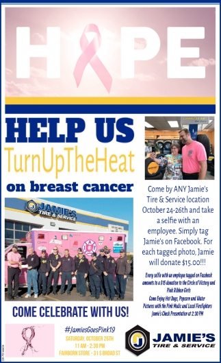 Help Us . Turn Up The Heat on Breast Cancer