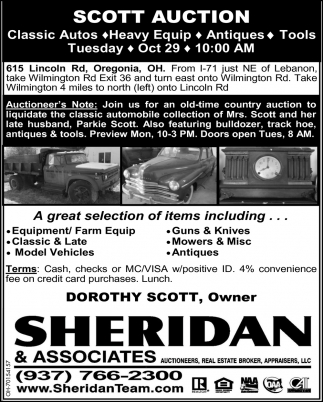 Scott Auction - Oct 29