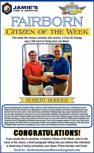 Citizen of the Week - Robert Borger