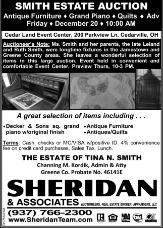 Smith Estate Auction - December 20